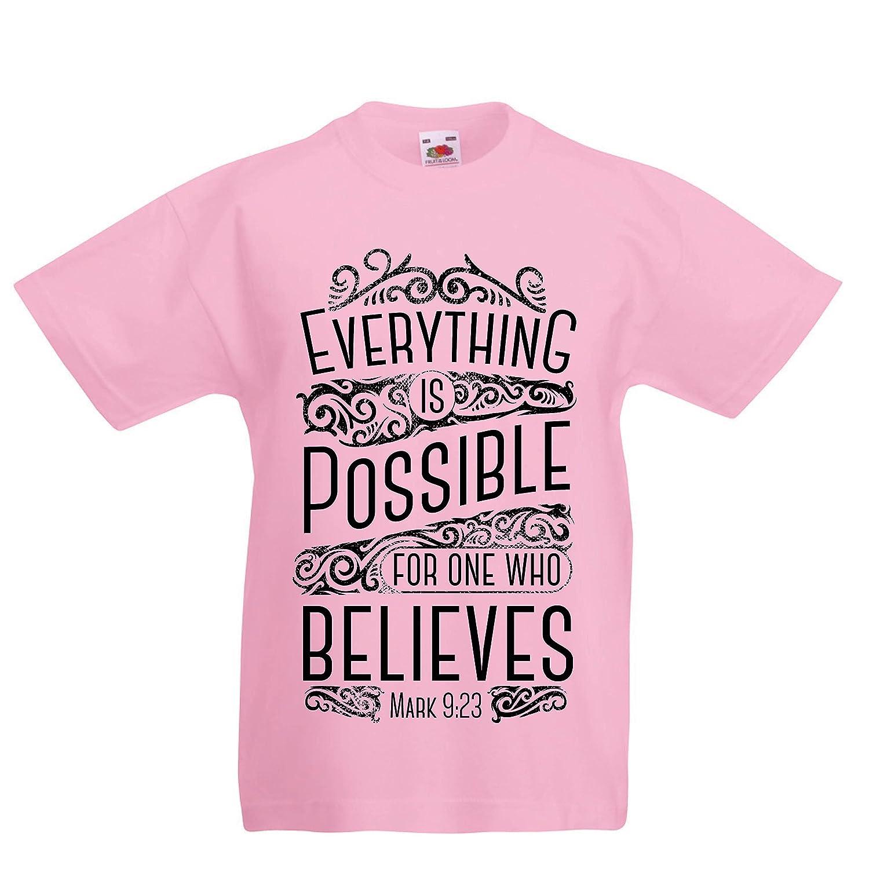Amazon.com: Boys/Girls T-Shirt Jesus Christ: Everything is Possible ...