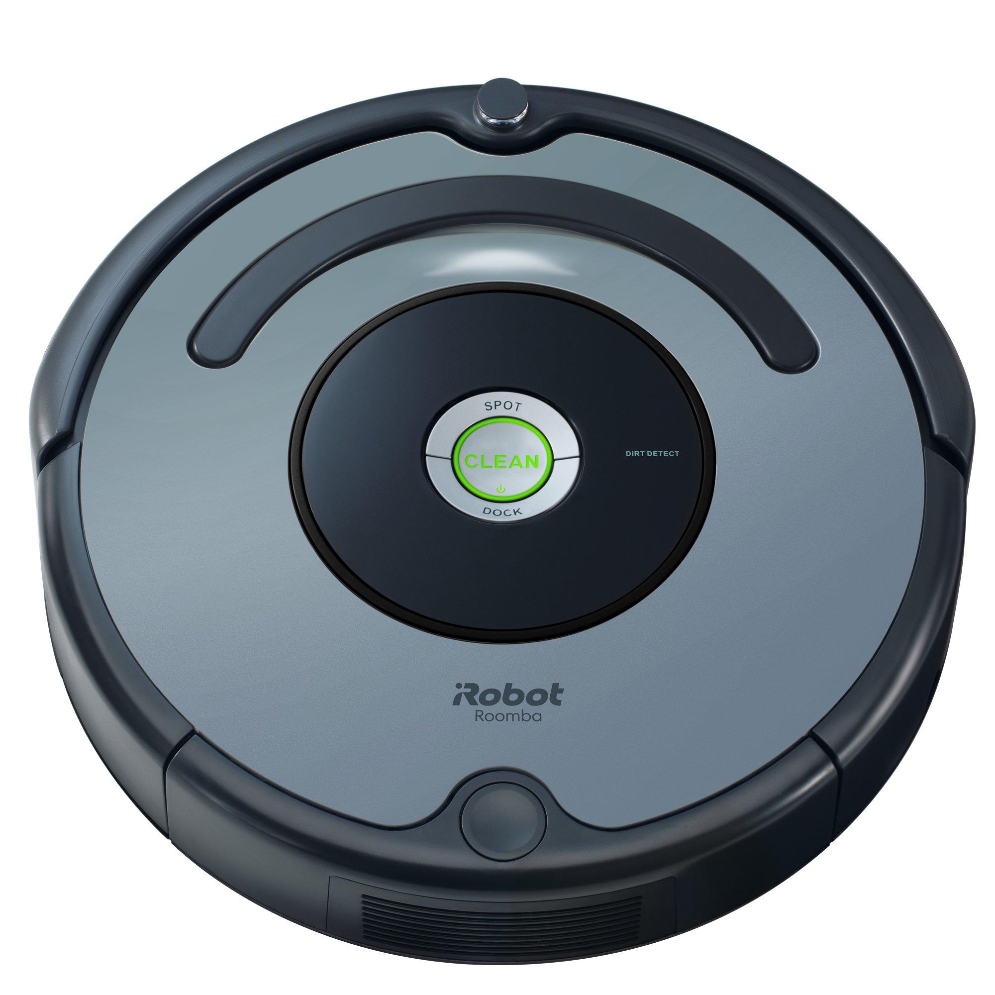 iRobot Roomba 640 Robot Vacuum Cleaner, Self-Charging, Good for Pet Hair, Carpets, & Hard Floor Surfaces, Grey by iRobot