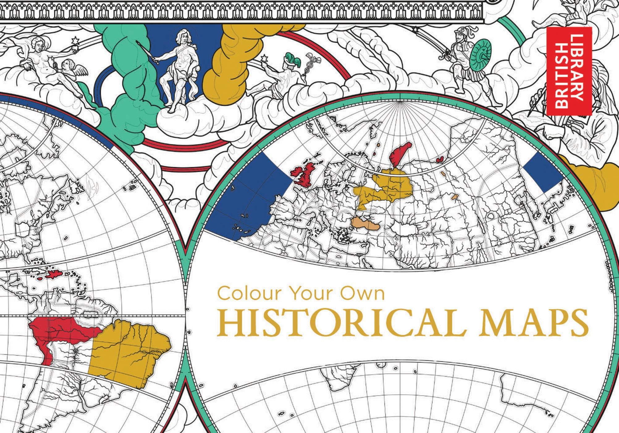 Amazon Com Colour Your Own Historical Maps 9781911216018