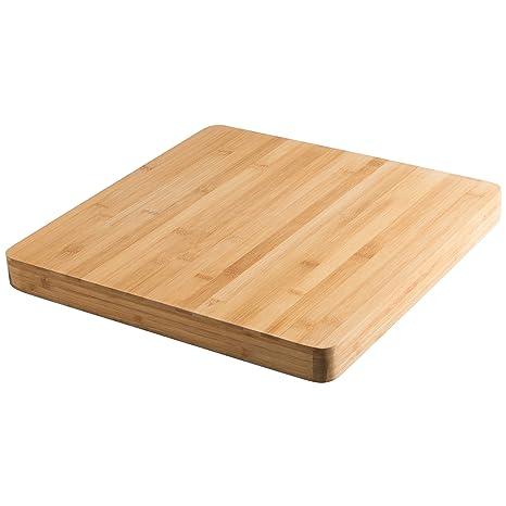 Levivo Tabla De Cocina De Madera De Bambú, Tabla De Cortar Grande, Gruesa Y