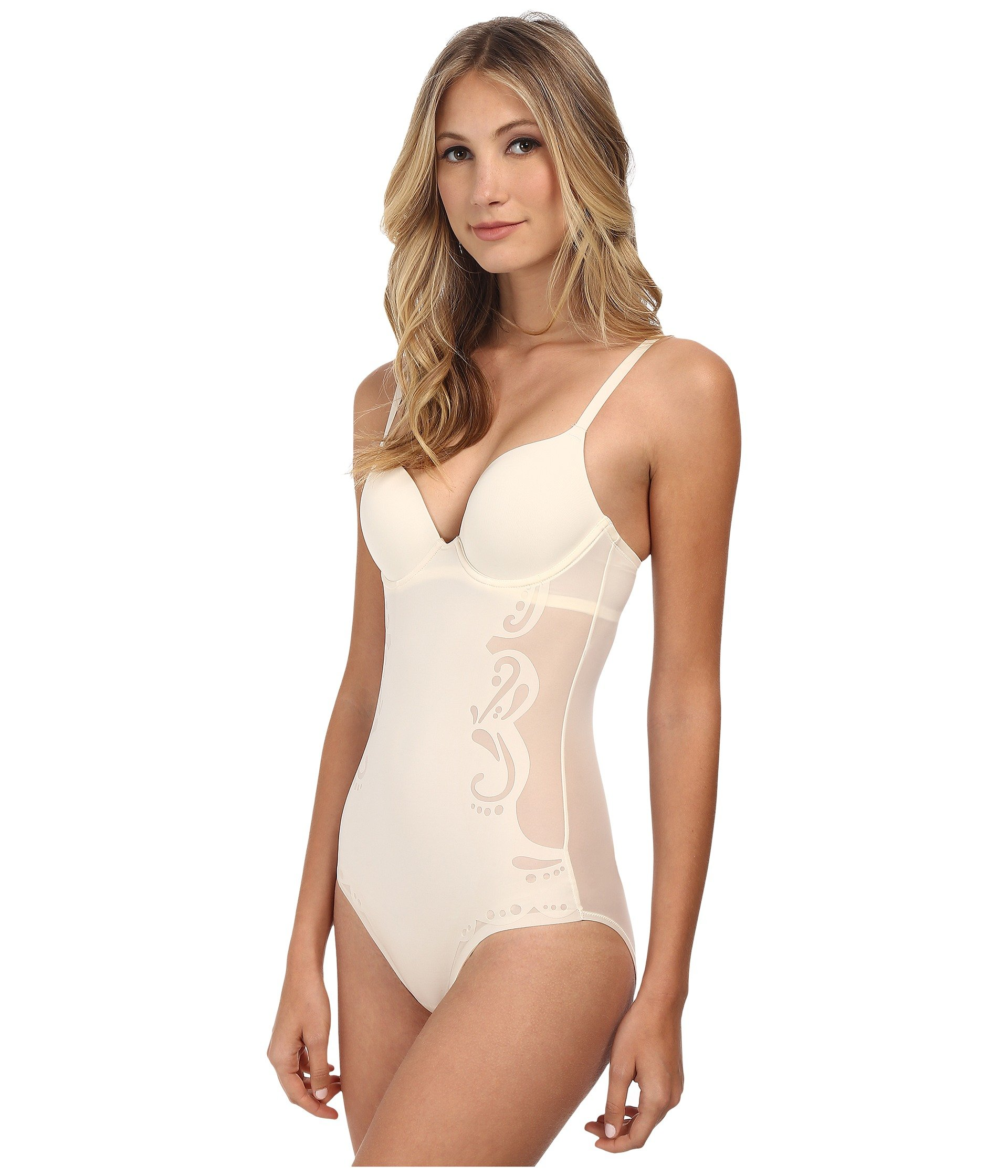 Spanx Womens Haute Contour Deco Sweetheart Panty Body SS0515 Pearlized White Body Shaper 36B