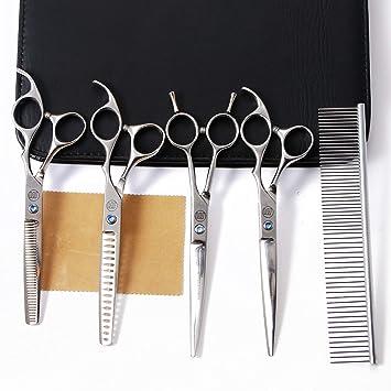 Amazon.com: Moontay - Juego de 4 tijeras de peluquería para ...