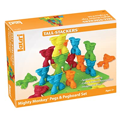 Lauri Tall-Stackers - Mighty Monkey Pegs & Pegboard Set: Toys & Games