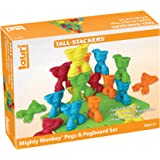 PlayMonster Tall-Stackers - Mighty Monkey Pegs & Pegboard Set