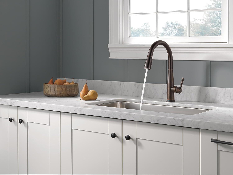 Delta Wasserhahn Essa Single Griff Pull-Down-Küchenarmatur mit ...