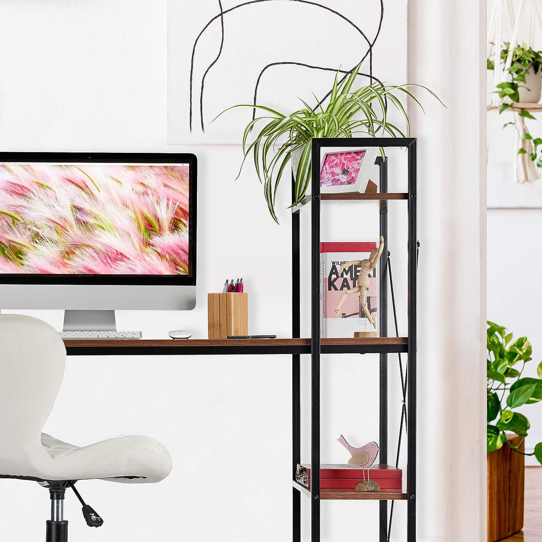 choix de couleurs pour chambre d/'ado et bureau m/étal combin/é /à 4 /étag/ères panneau de particules relaxdays HlP 121 x 120 x 62 cm Wei/ß