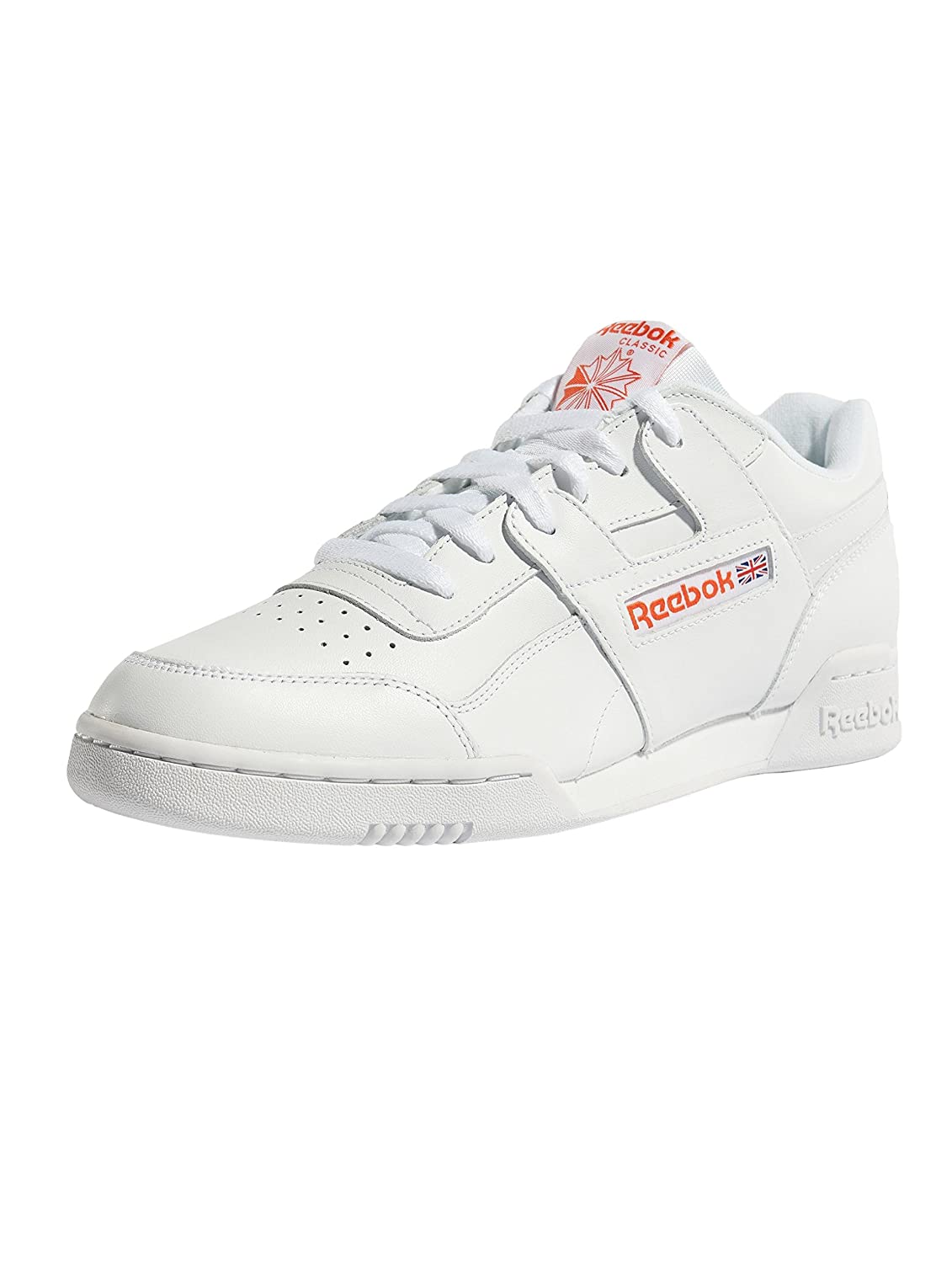 Reebok Herren Workout Plus Mu Gymnastikschuhe  445 EU|Wei? (Fcu/White/Bright Lava Fcu/White/Bright Lava)