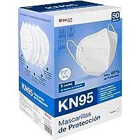 Best Trading Cubrebocas KN95 Certificado con 50 Piezas, Tapabocas con 5 Capas de Protección contra Partículas, Ajustador…