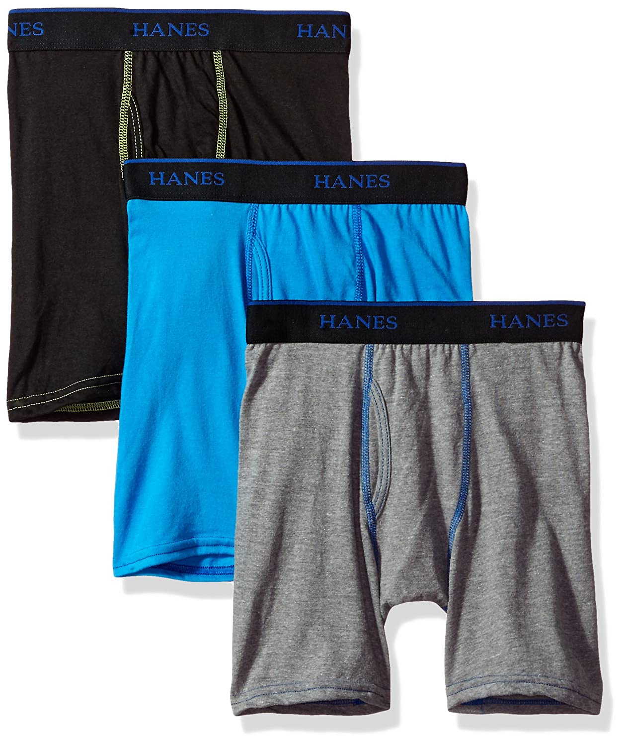 Hanes Big Boys Ultimate X-Temp Long Leg Boxer Briefs Hanes Boys 8-20 Underwear BULFX3