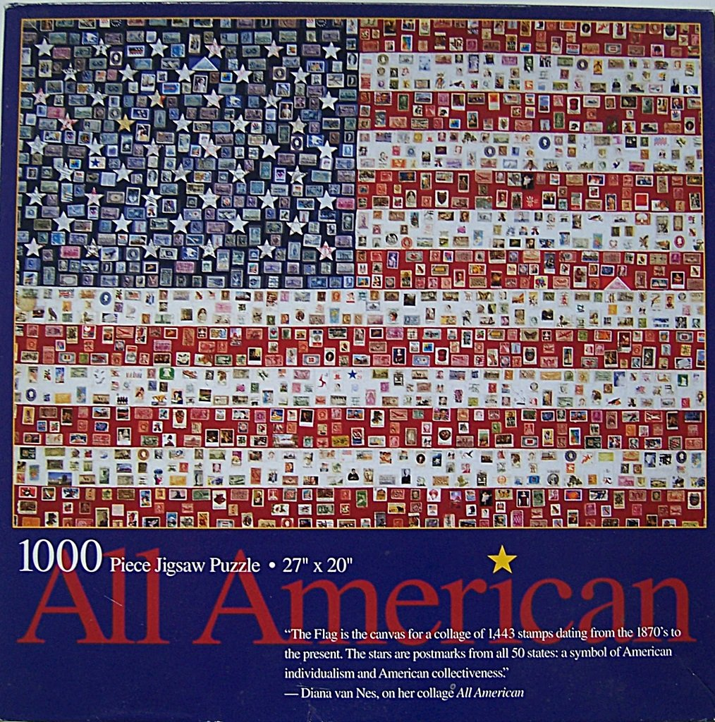 amazon com all american stamp u0026 postmark mosaic of us flag 1000