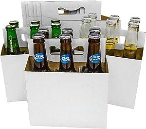 150 6 Pack Beer Bottle Holder that fits 12-16oz bottles Sturdy Cardboard Holds six bottles
