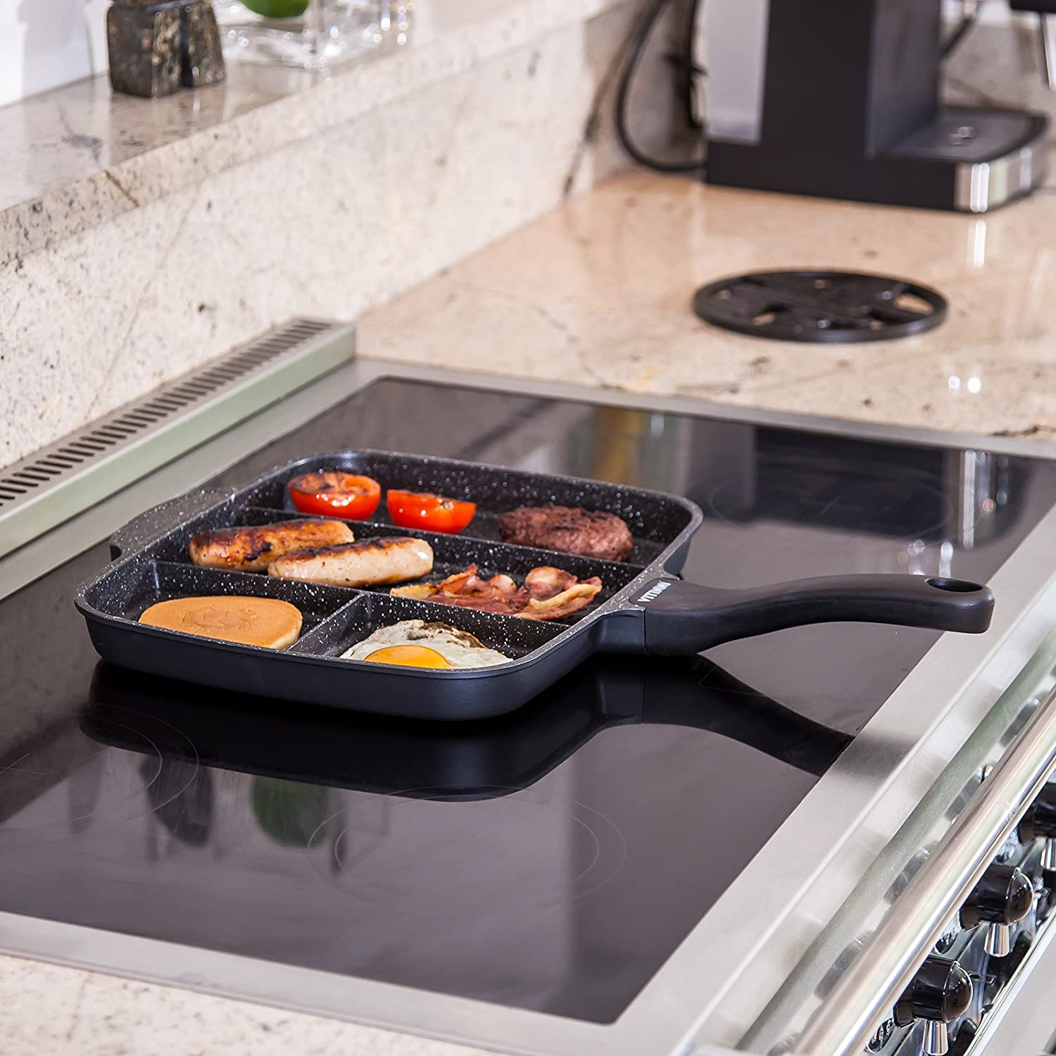 Vitinni All-in-One Frying Pan with Four Section
