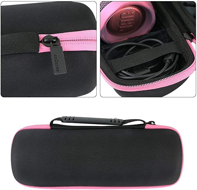 External Black,Interior Grey co2CREA Hart Reise Schutz H/ülle Etui Tasche f/ür JBL FLIP 5 mobiler Bluetooth Lautsprecher