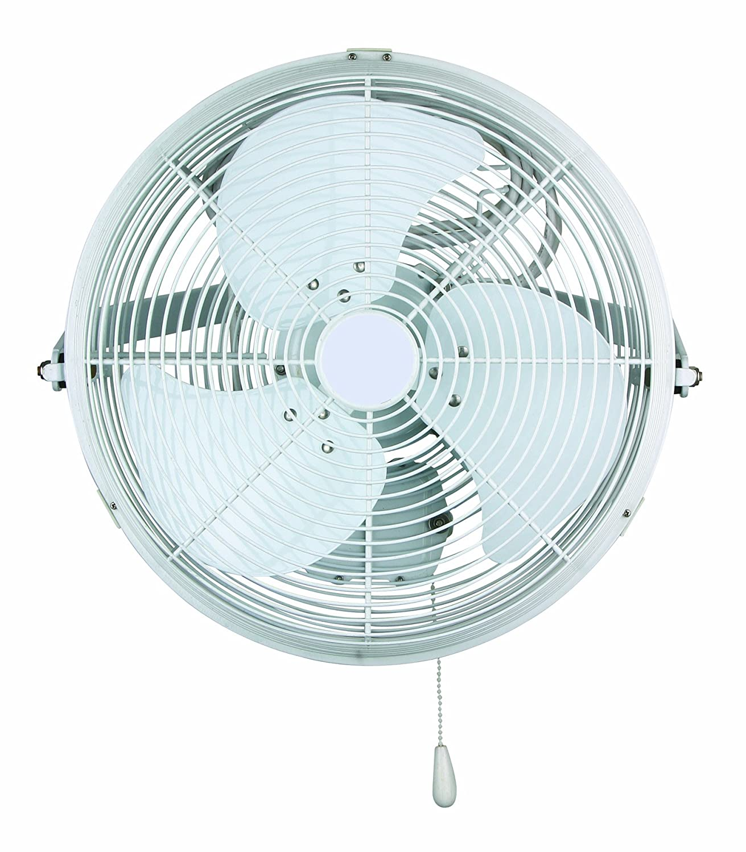 Small wall mount fan - Ves 18 Inch Industrial Fan Wall Ceiling Mount Corrosion Resistant White
