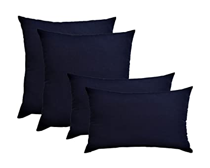 Set of 4 Indoor   Outdoor Pillows - 2 Square Pillows   2 Rectangle   Lumbar 37c17eee3