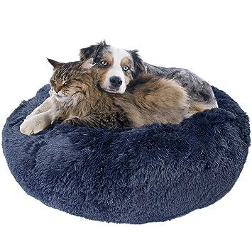 Amazon.com: Cama para perro de donut premium, acogedora cama ...