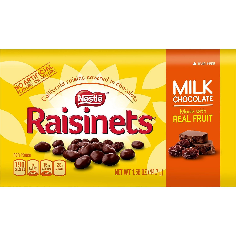 Amazon.com : Nestle Raisinets Milk Chocolate Stand Up Bag, 11.0 ...