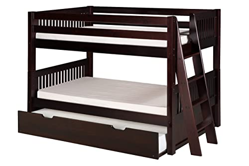 Camaflexi Mission Style Solid Wood Low Bunk Bed