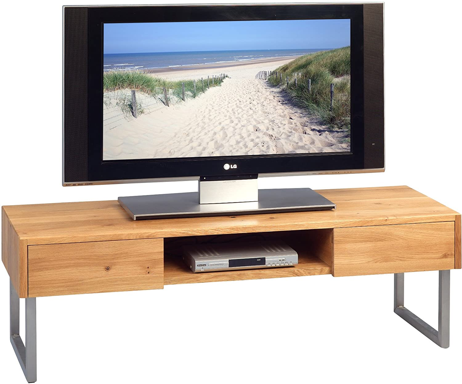 HomeTrends4you 353922 TV Bank Holz Wildeiche, 160x40x40 cm: Amazon ...