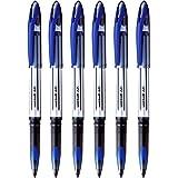 UNI-BALL Air UBA188L Roller Ball Pen (Blue Body, Blue Ink, Pack Of 6)