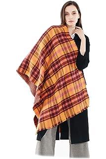 0b1fc26d62e0 Femme Fille Tartan carreaux plaid Extra Longue Écharpe Wrap Châles Etole  Frange