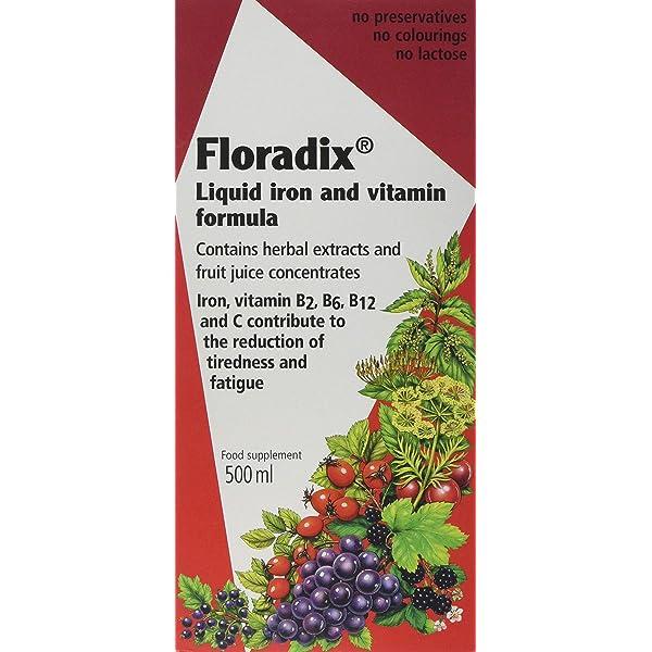 Salus Floradix, Hierro y Vitaminas, 84 comprimidos: Amazon ...
