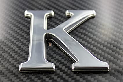 Pontoon Font Style Individual Chrome Letters /& Digits 3 Three Inches Marine Grade 3 Letter V
