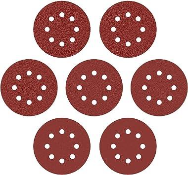 72pcs 5Inch 8 Hole Hook and Loop Sanding Discs Sandpaper 60 120 180 240 320Grit