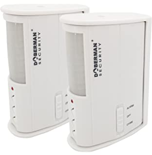 Doberman Security Infrared Technology Security Alarm, White (SE-0104W-2PK)