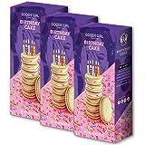 Goodie Girl Cookies Birthday Cake Sandwich Cookies, Gluten Free Cookies and Peanut Free Delicious Snack Cookies (10oz Box, Pack of 3)
