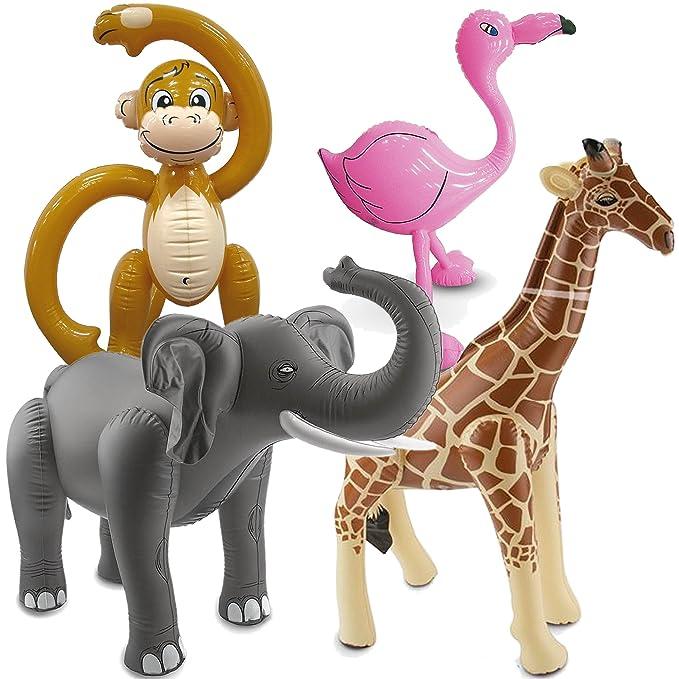 4 hinchable XXL de animales para una fiesta de * Safari ...