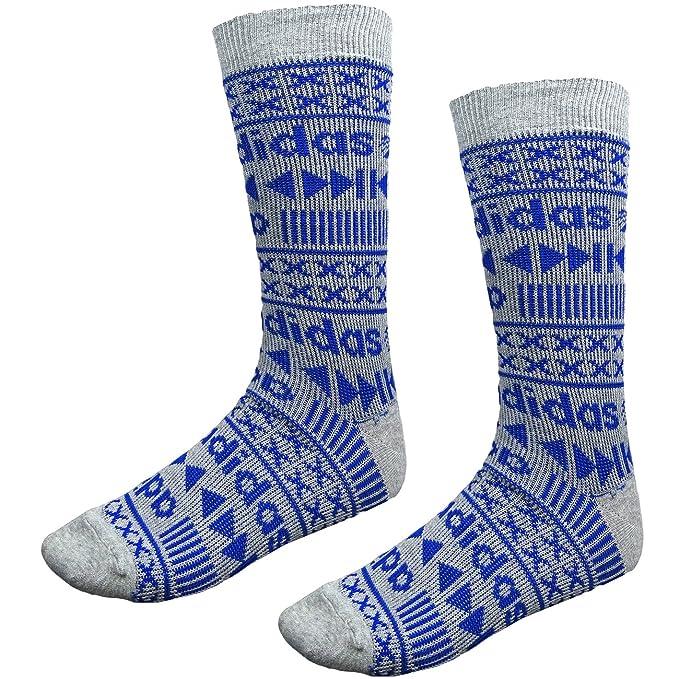 adidas Neo Hombre Calcetines Multicolor Azul / Gris