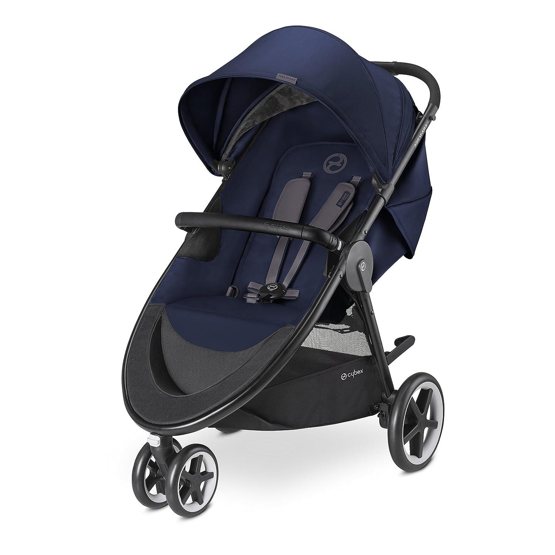 CYBEX Gold Kinderwagen Agis M-Air3, Inkl. Schutzbügel, Ab Geburt bis 17 kg (ca. 4 Jahre), Denim Blue Inkl. Schutzbügel 518000669