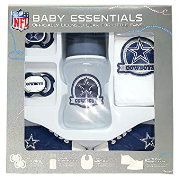 3e47f911c66 Image Unavailable. Image not available for. Color: Dallas Cowboys Baby  Essentials 5 Piece Newborn Infant Baby Shower Gift Set
