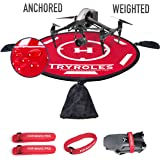 """Big 30""""/75cm Weighted OR Anchored Waterproof Drone Landing Pad with 2 Propeller Fixing Straps- Functional Carrying Bag…"""