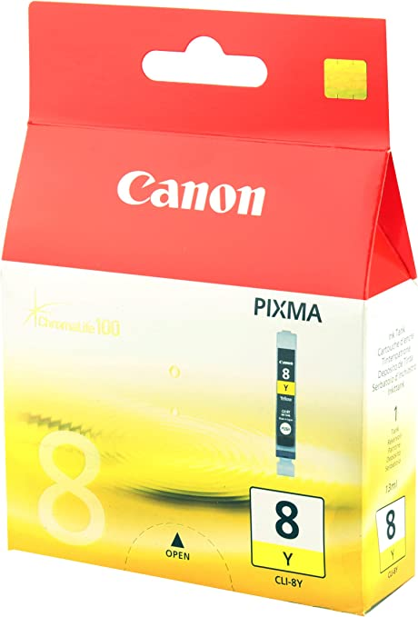 Canon PIXMA CLI 8Y Ink Tank Yellow Ink Cartridges