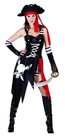 YOU LOOK UGLY TODAY Womenu0027s Pirate Lady Halloween Party Costume Outfit -Medium  sc 1 st  Amazon.com & Amazon.com: Womens Pirate Costume Dress for Womens Halloween Party ...