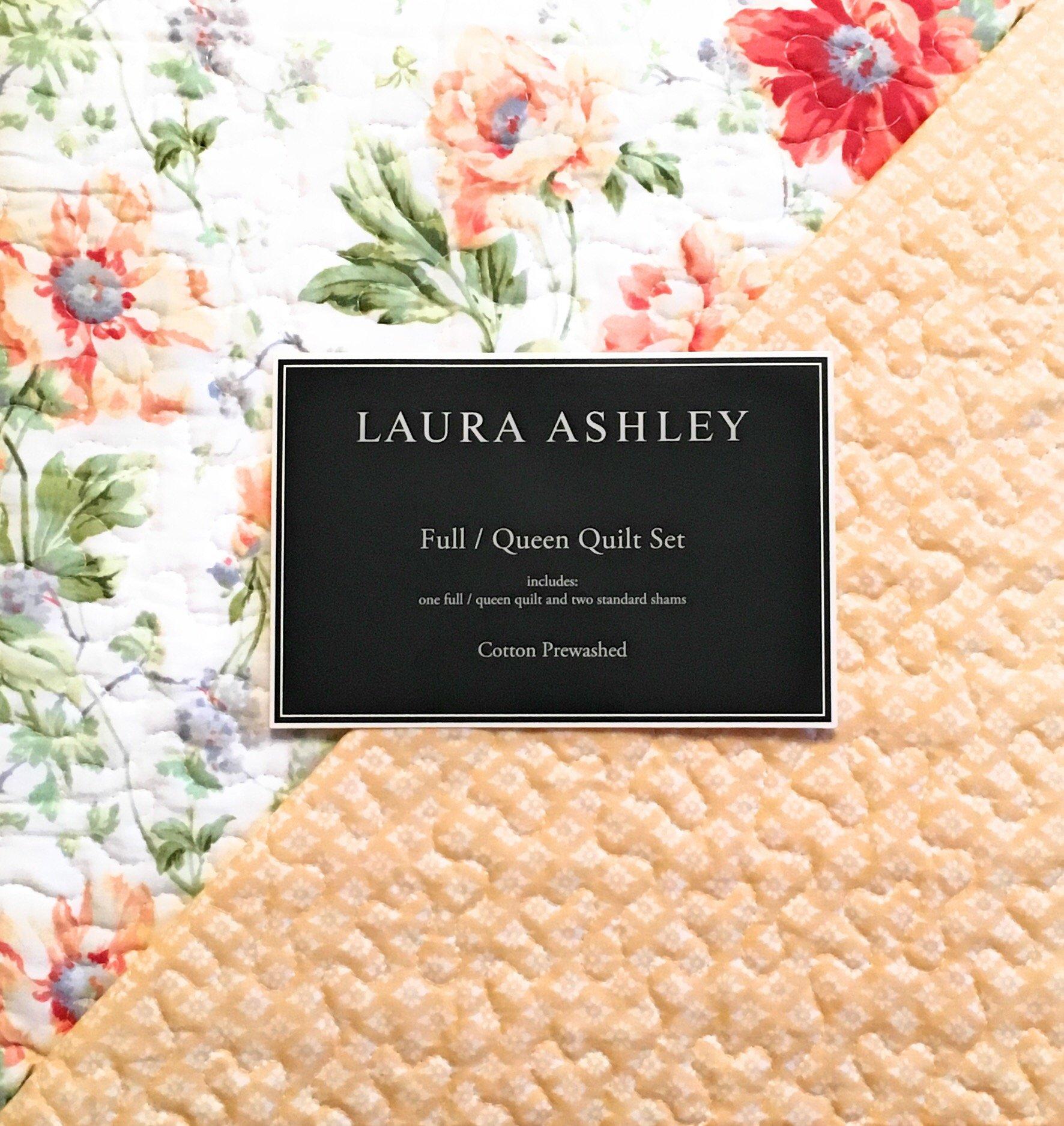 Laura Ashley Full/Queen Quilt Set