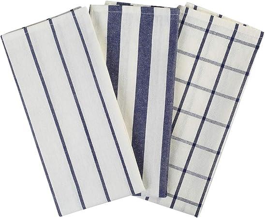 Lifaith Lot de 3 torchons de Cuisine Classiques 100/% Coton Naturel lavables en Machine absorbants et Non Pelucheux Les torchons /à Vaisselle 45 x 65 cm
