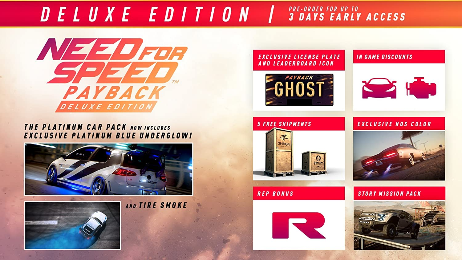 Amazon Need For Speed Payback Deluxe Edition