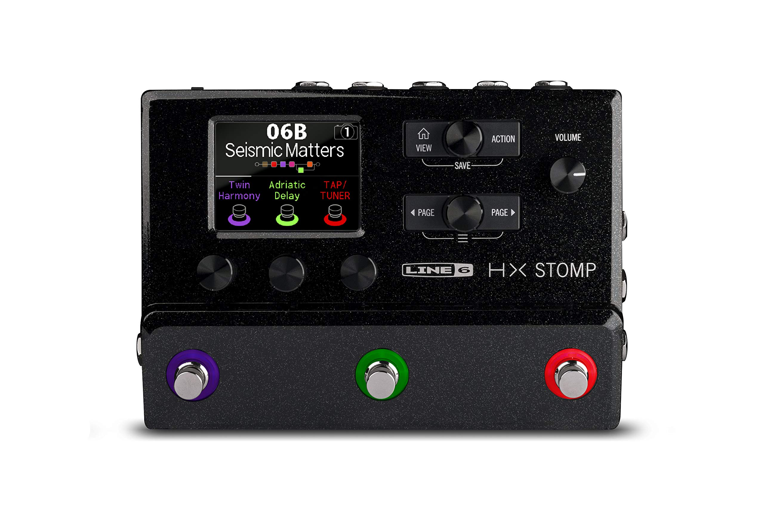 Line 6 Electric Guitar Multi Effect, Black (HX Stomp) by Line 6 (Image #1)