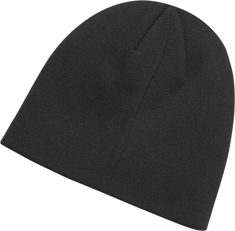 HARLEY-DAVIDSON Official Mens Logo Knit Hat Black /& Grey