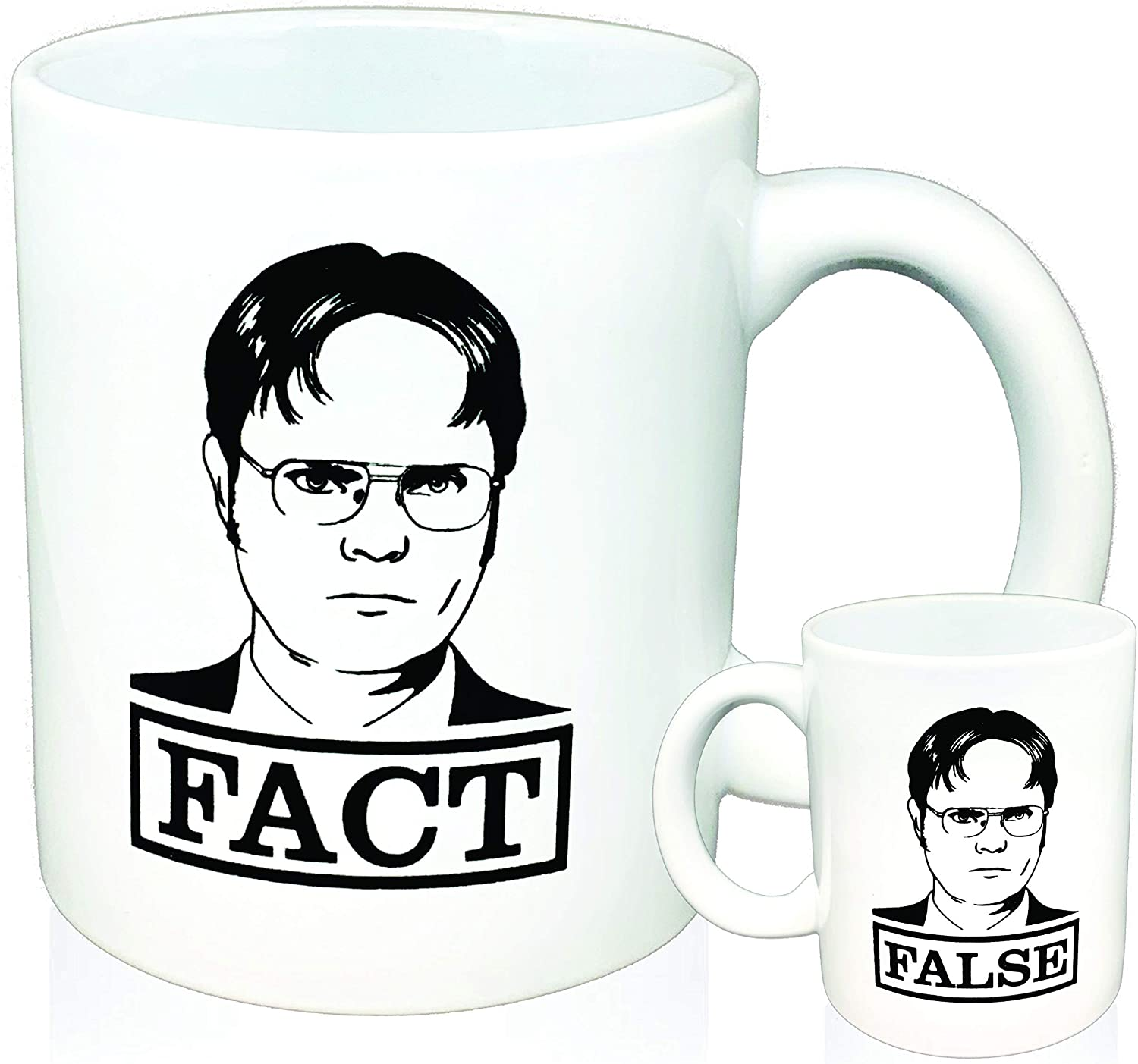 Dwight Schrute FACT FALSE The Office, Coffee Mug (1)