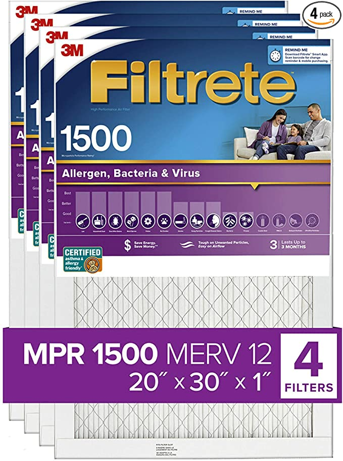 Nordic Pure 16x20x1 MPR 2200 Healthy Living Elite Allergen Replacement AC Furnace Air Filters 3 Pack