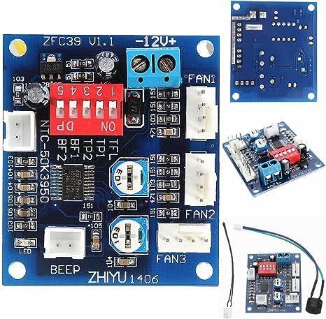 ELEGIANT DC 12 V PWM PC CPU Ventilador Temperatura Velocidad Plato ...