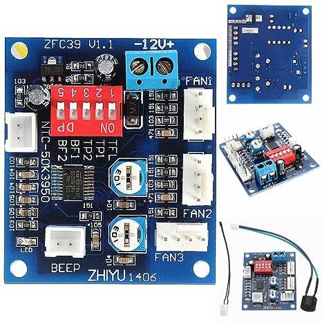 Alarm DC 12V PWM 4-Wire Fan Temperaturregler Drehzahlregler für PC-Lüfter