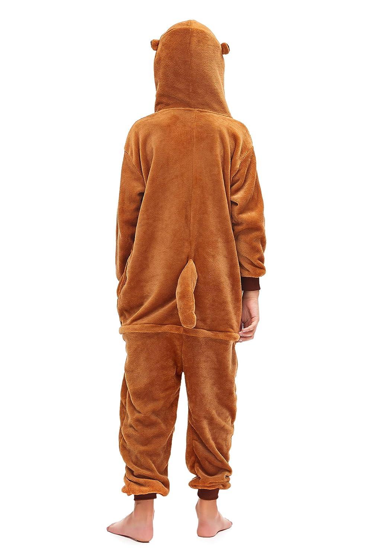 MJTP Bambini Unicorno Pigiama Cosplay Halloween Natale Party Costumi Animale Pigiama Inverno Tuta Animali Unisex