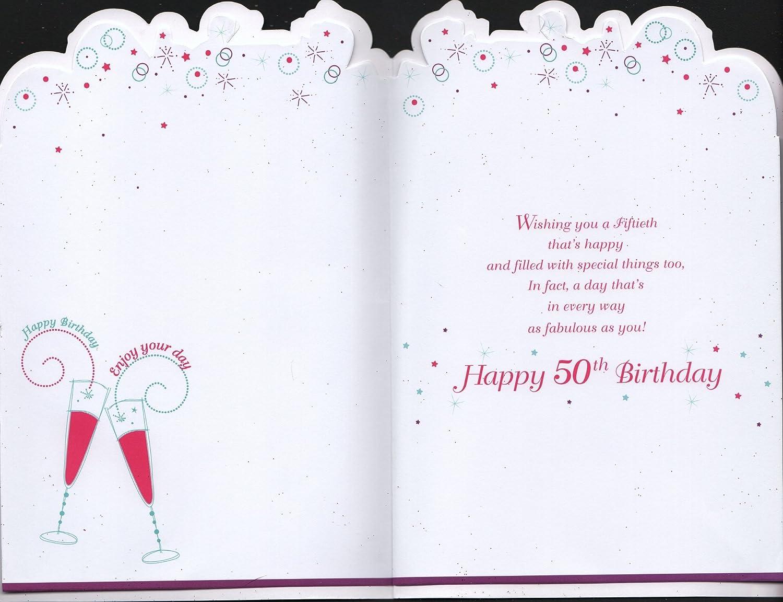 50th Birthday Card Fabulous And 50 Amazon Co Uk Garden Outdoors