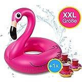smartfox blau flamingo schwimmring aufblasbarer xxl schwimmreifen luftmatratze 120cm hoch. Black Bedroom Furniture Sets. Home Design Ideas