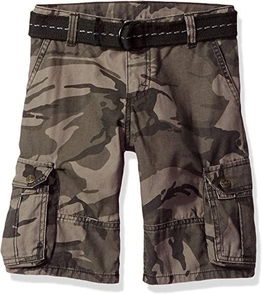 KIDS CAMOUFLAGE MULTIPOCKET GREY SHORTS BY LIDA  FASHION size 3 to 14 years